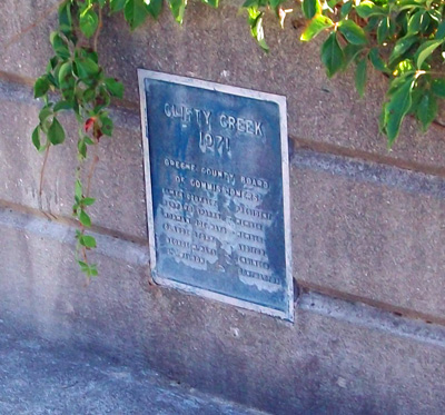 Clifty Creek Bridge Plaque